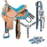 Tough-1 Trinity Barrel Saddle 5 Piece Package
