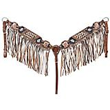 Silver Royal Savannah Breast Collar with Fringe