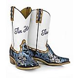 Tin Haul Ladies Wild Blue Square Toe Boots