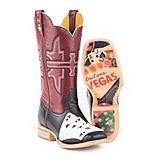 Tin Haul Mens 4 of A Kind Square Toe Boots