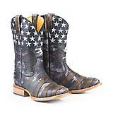 Tin Haul Mens Camoflag Square Toe Boots