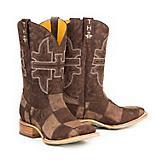 Tin Haul Mens Million Dollar Check Sq Boots