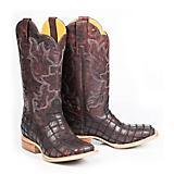 Tin Haul Mens Red Rim Square Toe Boots