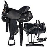 Tough-1 Spur Rowel 7-Piece Saddle Package