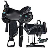 Tough-1 Turq Cross 7-Piece Saddle Package