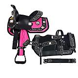 Tough-1 Crystal Concho 5-Piece Pony Saddle Package