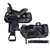 Tough-1 TurqlCross 5-Piece Pony Saddle Package
