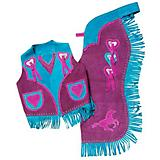 Tough-1 Premium Youth Chap/Vest Set Horse/Heart