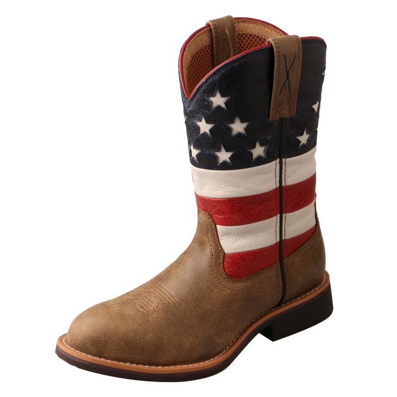 Twisted X Youth Cowkid VFW USA Work Boot