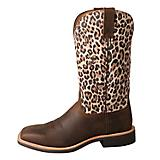 Twisted X Ladies Top Hand Sq Leopard Boots