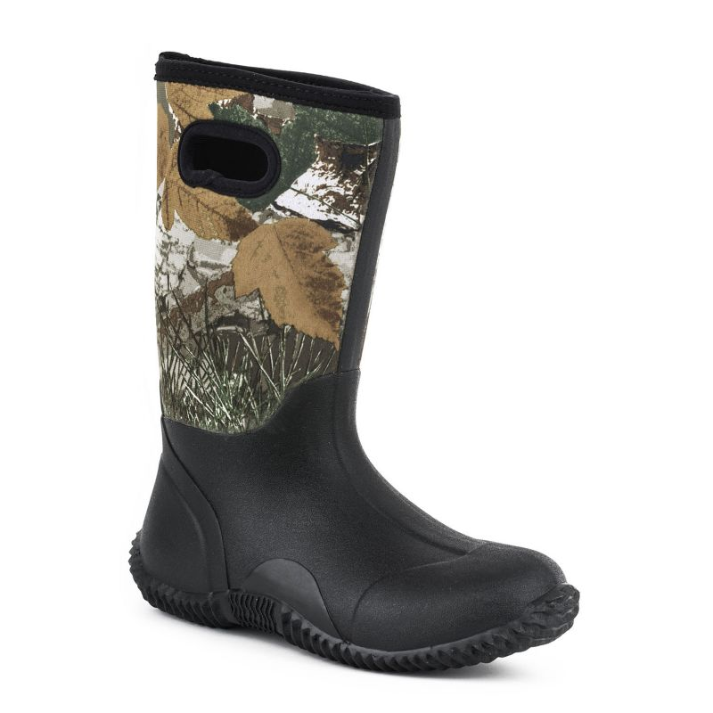 Roper Youth Barnyard Camo Rubber Boots 5