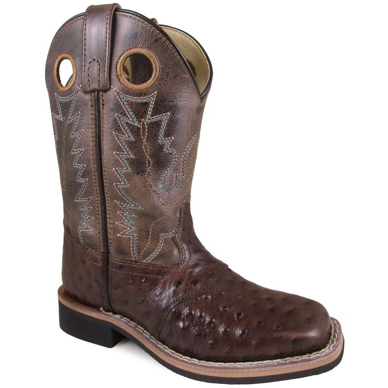 Smoky Mountain Youth Square Toe Brown Boots