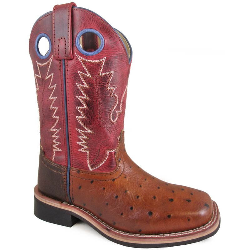 Smoky Mountain Youth Square Toe Red Boots