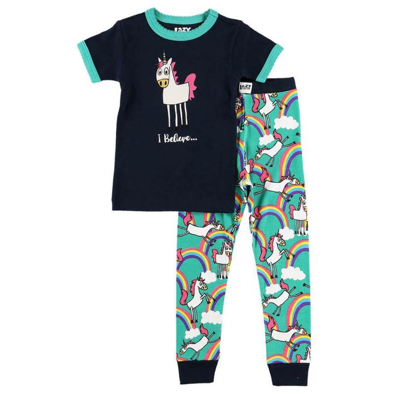 Lazy One Unicorn Kids Pajama Set 10