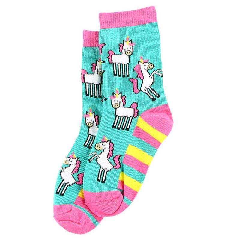 Lazy One Unicorn Kids Socks Large Unicorn