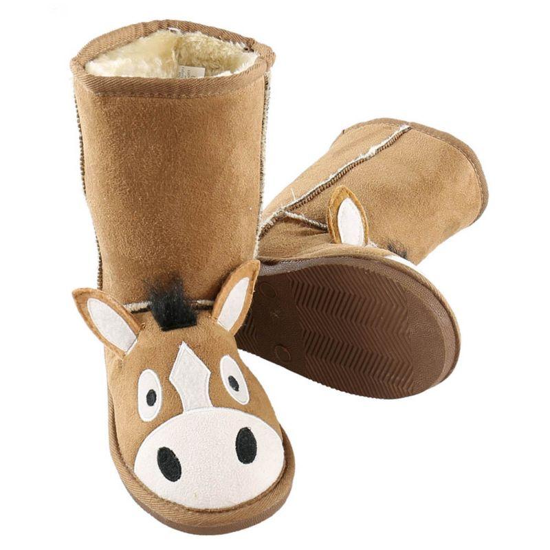Lazy One Kids Toasty Toez Boots Large Horse