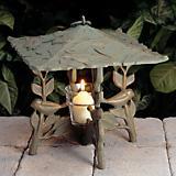 Verdigris Chickadee Twilight Lantern