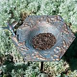 Verdigris Hummingbird Garden Bird Feeder