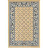 Recife Rug Garden Lattice Nat-Blue