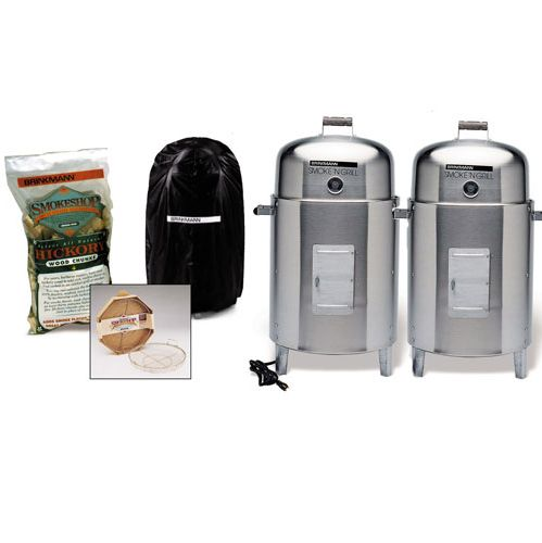 click for Full Info on this Brinkmann Smoke N Grill Value Pack Electric