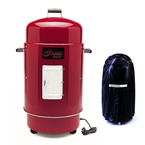 Gourmet Electric Smoker & Grill w/Vinyl Cover