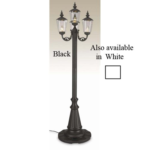 Cambridge Park Patio Lantern 7 Ft Black