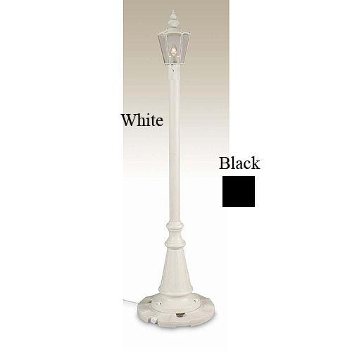 Cambridge Single Patio Lantern 6ft 8in Black
