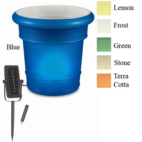 Garden Glo LED Solar Planter Blue