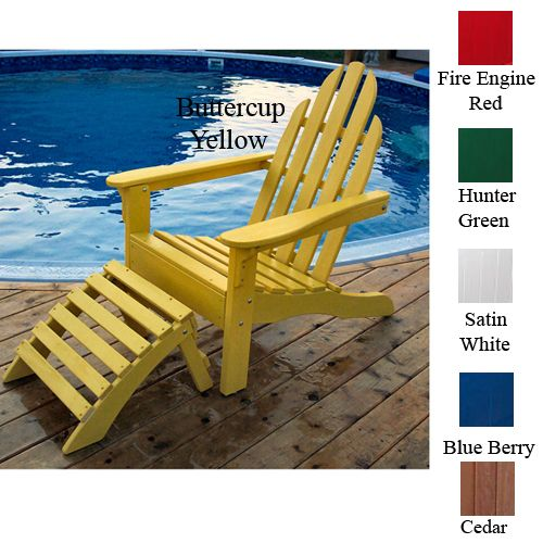 Adirondack Chair 37L x 30H Berry Blue