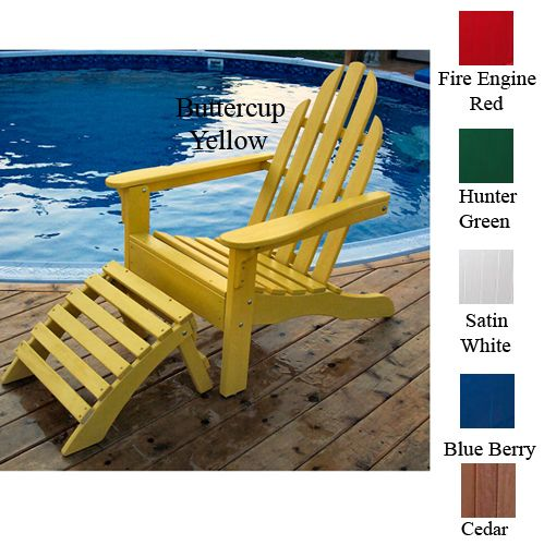 Adirondack Chair 37L x 30H Buttercup Yellow