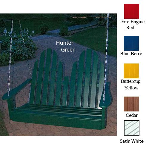 Adirondack Porch Swing Hunter Green
