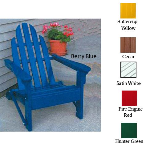 Folding Adirondack Chair 38x37x30 Satin White
