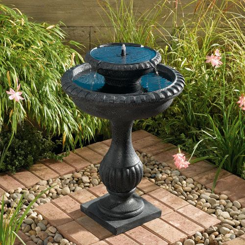 Blenheim Two-Tier Solar Fountain Solar on Demand
