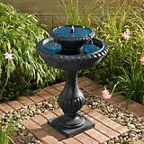 Blenheim Two-Tier Solar Fountain