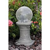 Chameleon Solar Fiber Optic Gazing Ball w/Pedestal
