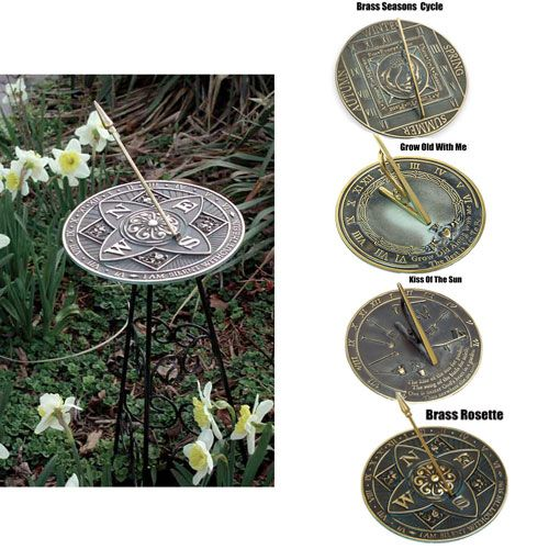 Brass Sundial Kiss of the Sun 10in