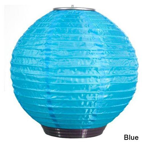 Soji Solar Nylon Lantern Blue w/White LED