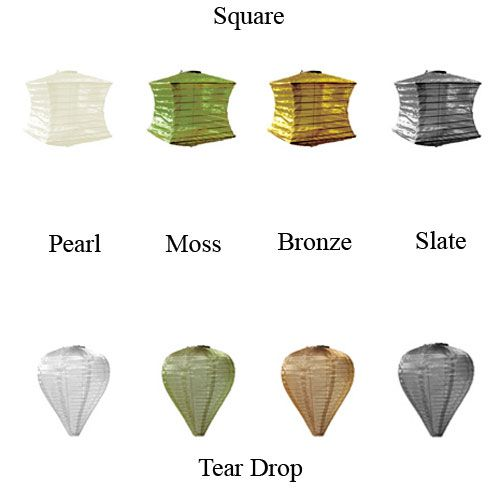 Soji Silk Effects Solar Lantern Tear Drop Pearl