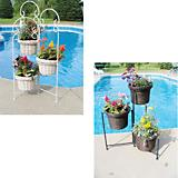 Rattan Three Pot Planter