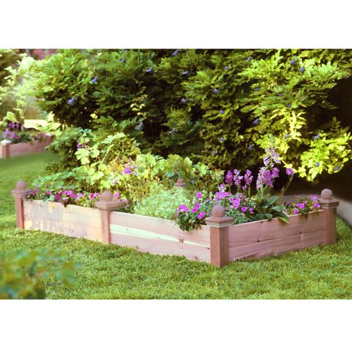 Rectangular Raised Bed w/Ball Finials 8 Foot