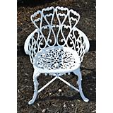 Bistro Heart Aluminum Chair