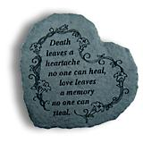 Large Heart Stepping Stone- Death leaves heartache