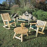 Log Arm Chair Lowback