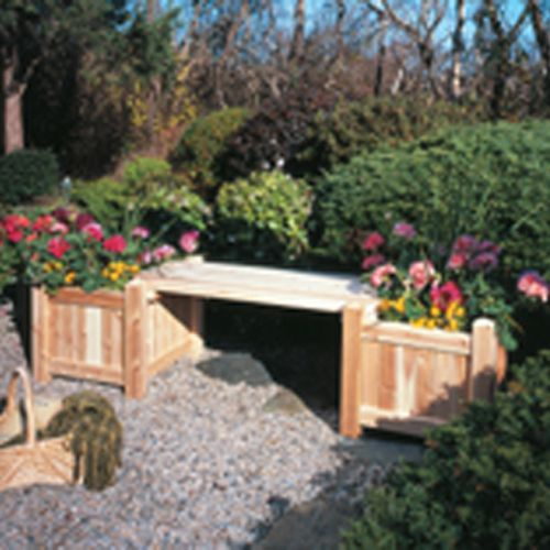 Planter Bench With Two Planter Boxes Kit