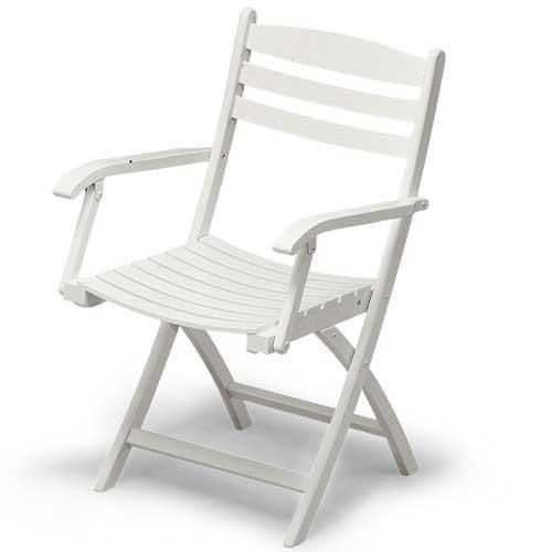 Selandia Folding Arm Chair White