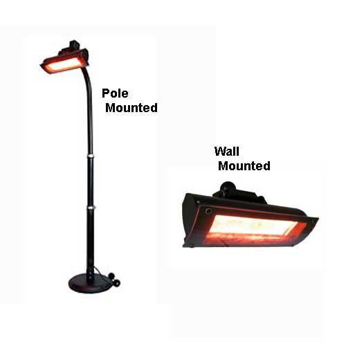 Mojave Sun Infrared Patio Heater Wall Mount