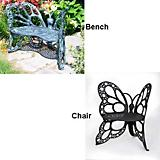 Butterfly Bench - Cast Aluminum