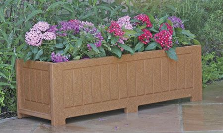 Eagle One Catalina Planter Box 12 Inch Brown