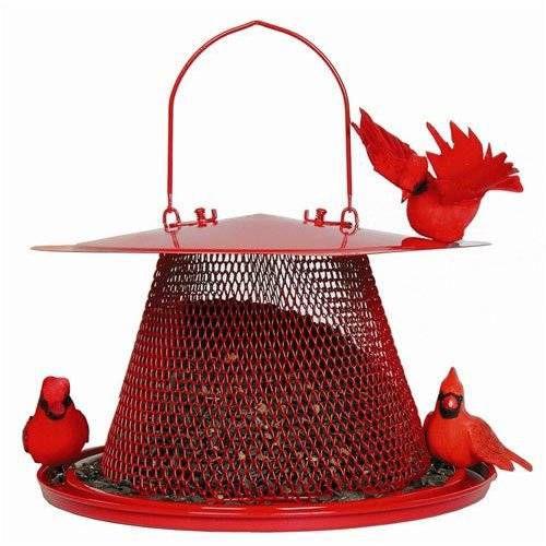 No No Red Cardinal Feeder (NNBC00322 633686003227 Wild Bird Supplies Bird Feeders) photo
