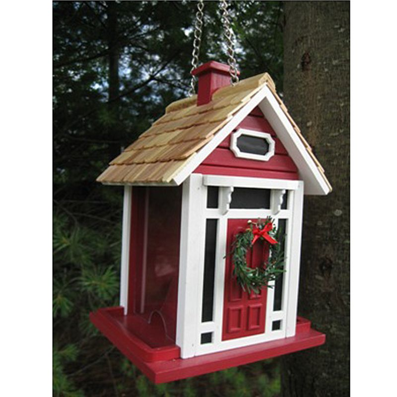 Christmas Cottage Birdfeeder Red Best Price